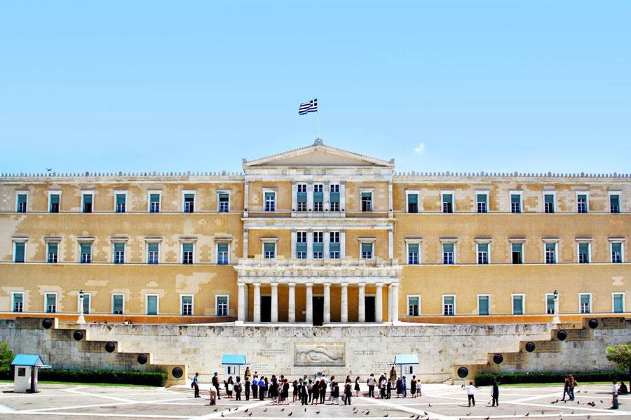 tour in athens-greek parliament